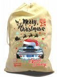 X-Large Cotton Drawcord Koolart Christmas Santa Sack Stocking Gift Bag With Shelby Mustang Car Image